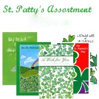 7509 Saint Patrick's Day Assortment of Greeting Cards - 6 designs - wholesale units of 6 of each design - 36 cards total (designs may vary)