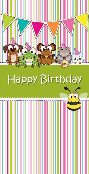 01055 - $2.80 Retail Each - Money Holder Birthday Cards Kids PKD 6