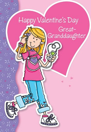 Wholesale Valentines Day Great Granddaughter Greeting Cards