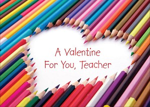 val11099 - $3.99 Retail Each - Valentine's Day Teacher Juvenile Greeting Cards - English Language - Premium - wholesale units of 3 cards