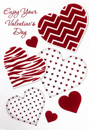 val11016 - $5.99 Retail Each - Valentine General Greeting Cards - English Language - wholesale units of 3 cards