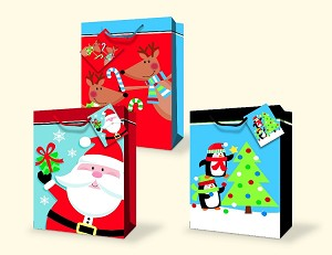 cgb16 giant christmas gift bag assortment 3 beautiful giant designs pkd 12s per - Large Christmas Gift Bags