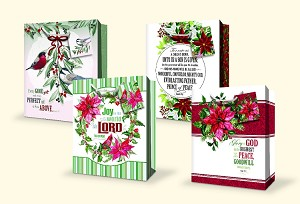 CGB29  - Large Religious Christmas Gift Bags - Assortment - 4 Designs - pkd 12's per design - 48 Total.