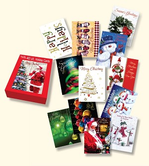Wholesale christmas boxed cards 40 count cbc09 pre order discounted christmas boxed cards 40ct holiday greeting cards retail m4hsunfo