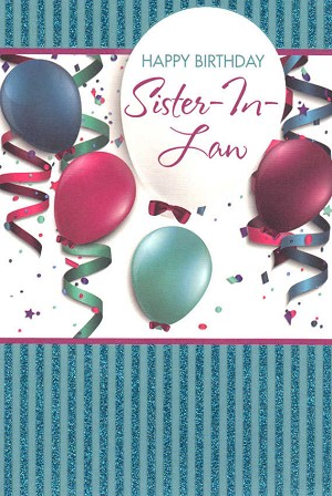 Wholesale Birthday Sister In Law Greeting Card 16972