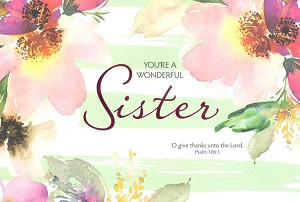 Wholesale Birthday Sister Religious Greeting Card 14419