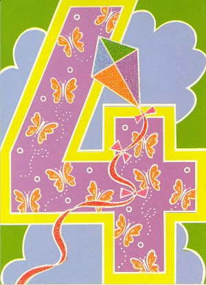3513 - $2.95 Retail Each - Birthday By Age 4th PKD 6