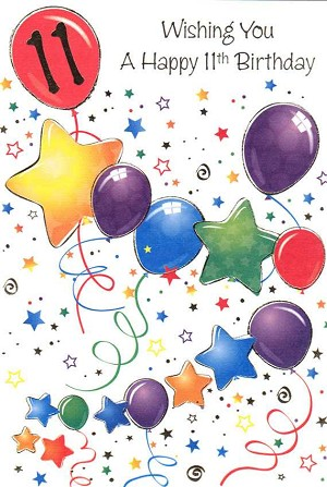 Wholesale Birthday Age 11 General Greeting Card 16410 1