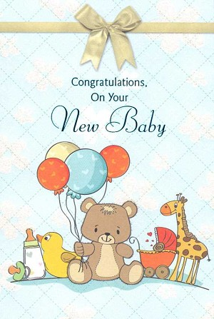 Wholesale new baby greeting card 15215 1 3602 399 retail each new baby pkd 6 m4hsunfo
