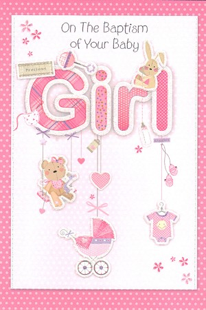 3810 - $3.99 Retail Each -Baby Baptism Girl PKD 6
