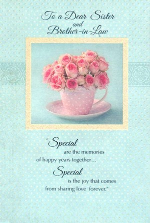 Wholesale Anniversary Sister Brother In Law Greeting Card 15089
