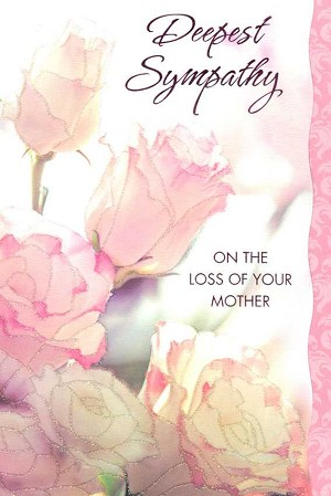 Wholesale sympathy loss of mother greeting card 17567 1 4988a 399 retail each sympathy loss of mother pkd 6 front of card m4hsunfo