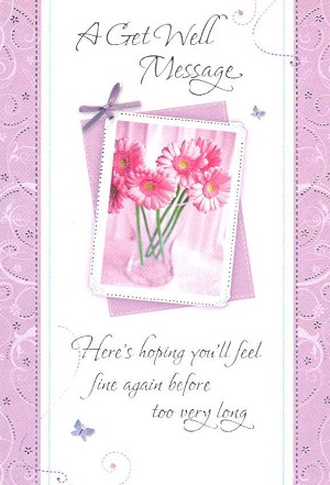5019 349 retail each get well pkd 6 front of card - Get Well Greeting Cards