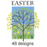 7494 - 48-count Premium Easter Assortment pkd in 3's with 20% off wholesale price - a total of 144 Cards