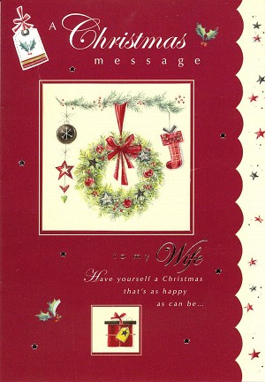Wholesale christmas greeting card wife 9582 349 retail each christmas wife greeting cards pkd 6 m4hsunfo