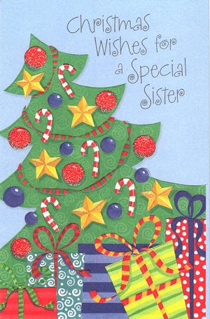 Christmas Wishes Card.9621 3 29 Retail Each Christmas Greeting Cards Sister Pkd 6