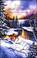 9642 - $2.75 Retail Each - Christmas Great-Grandson Greeting Cards PKD 6