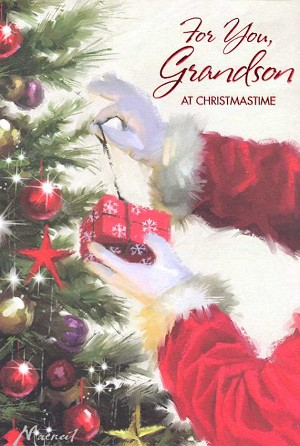 9643 - $3.99 Retail Each - Christmas Grandson Greeting Cards PKD 6