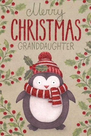 9651 - $3.99 Retail Each - Christmas Granddaughter Greeting Cards PKD 3