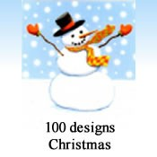 9889 - 100 Designs of Christmas Cards. 6 of each design. English Assortment. Discounted 30% - 45% off wholesale