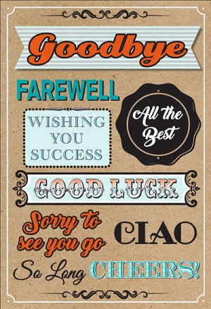 BIG05 - $8.99 Retail Each - Jumbo Card Goodbye - Good Luck PKD 6