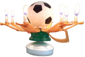 AC1006 - Soccer Trophy Amazing Candles - PKD 20 (with displayer)