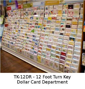 Greeting card rack tk 12dr turn key of 12 feet of quality dollar greeting cards complete m4hsunfo