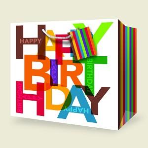Extra Deep Horizontal Birthday Gift Bag Wholesale